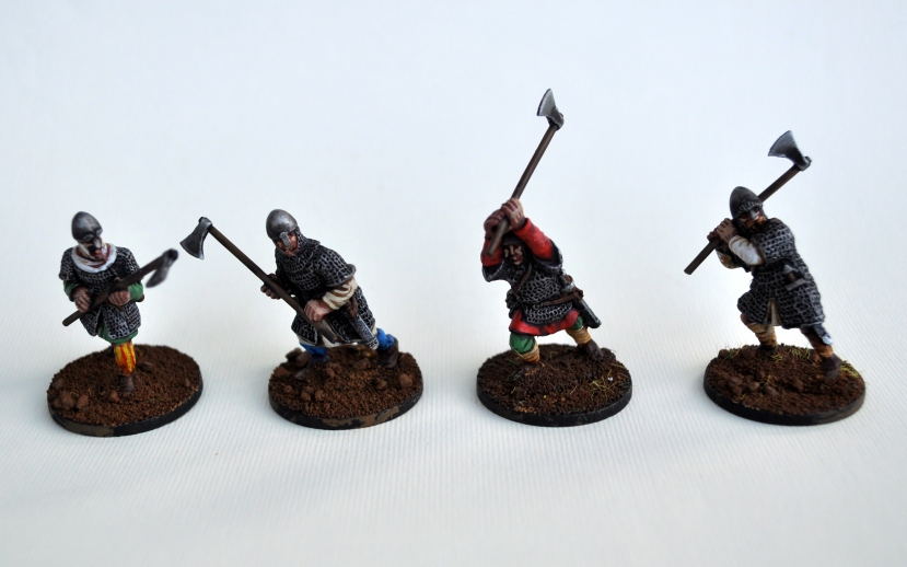 Four further axemen from the Anglo-Dane line by Gripping Beast.