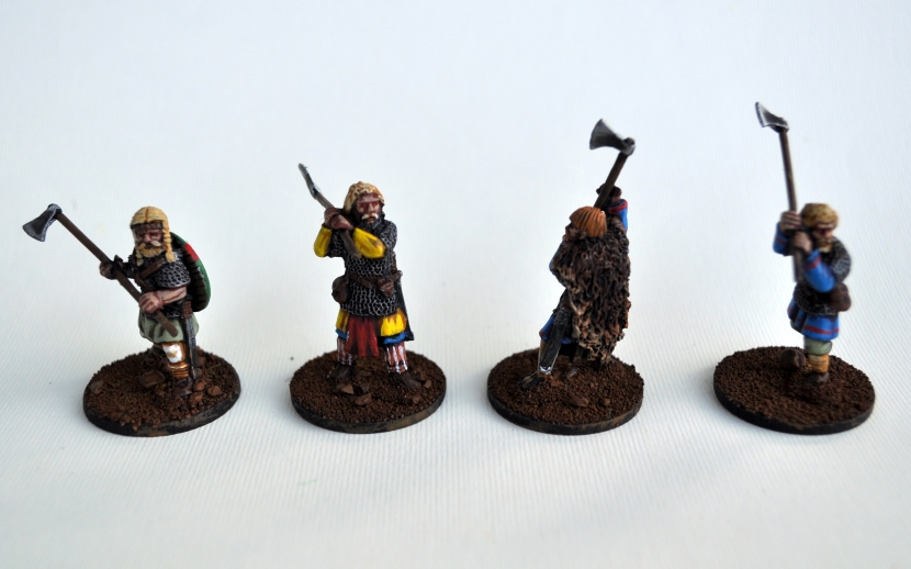 Four models from the Norse Gael line by Gripping Beast.
